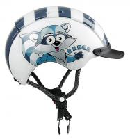 Велошлем Casco Mini-Generation racoon-white