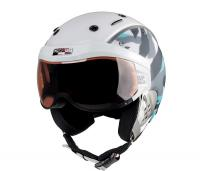 Горнолыжный шлем Casco SP-6 Camo white-black-turquoise