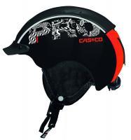 CASCO Горнолыжный шлем Mini Pro black-neonred