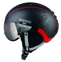 CASCO Горнолыжный шлем SP-2 Snowball Visor F1 black-red