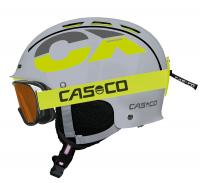 горнолыжный шлем Casco CX-3 Junior grey neonyellow