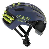 Велошлем Casco SPEEDairo 2 blue-neon yellow w.Visor Vaut