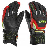 перчатки Leki Worldcup Race Flex S Junior black-red-white-yel