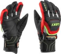 перчатки Leki Worldcup Race Flex S Junior black-red-white-ye