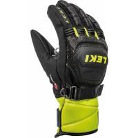 Перчатки Leki WORLDCUP RACE COACH FLEX S GTX JUNIOR black-ice lemon
