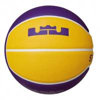 Баскетбольные мячи Nike LEBRON PLAYGROUND 4P 07 жовтий, фіолетовий