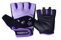 перчатки Powerplay Перчатки женские черно-фиолетовые