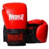 Перчатки для бокса Powerplay Рукавиці боксерські червоні (натуральна шкіра)